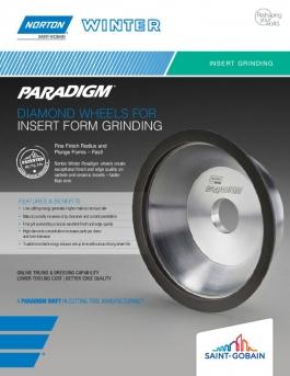 Norton Winter Paradigm Diamond Wheels for Insert Form Grinding Flyer - 8465
