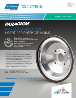 Norton Winter Paradigm Diamond Wheels for Insert Periphery Grinding Flyer - 8464