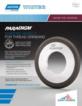 Norton Winter Paradigm Diamond Wheels for Thread Grinding Flyer - 8463