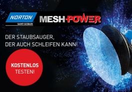 Norton MeshPower - das Schleifgitter für maximale Staubabsaugung: JETZT KOSTENLOS BESTELLEN & TESTEN!