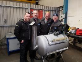 EL equipo norton de la amoladora angular