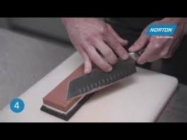 Comment utiliser la pierre d'affûtage double face Norton à grain 1000/3000