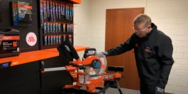 how to set angle cut on mitre saw