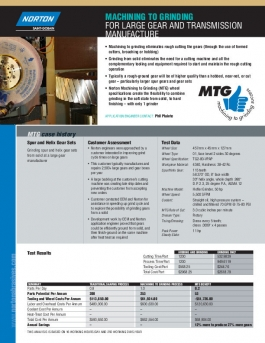 Norton MTG Large Gear and Transmission Manufacture Flyer - 8249