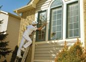 Sanding exterior window trim prior to painting