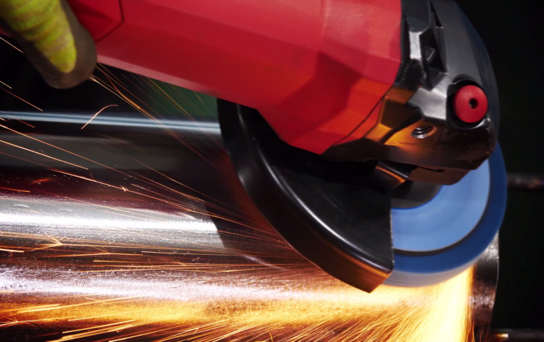 Norton Vortex Rapid being used on an angle grinder