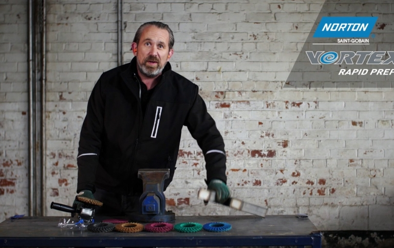Blending & finishing stainless steel with Vortex Rapid Prep Flap Discs