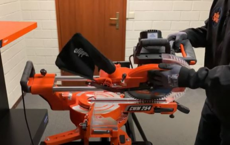 how to set bevel cut on mitre saw