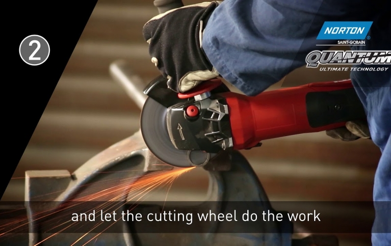 How to use the Norton Quantum 0.8mm cutting disc