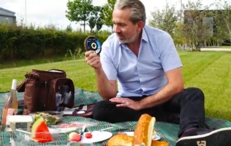Paul na romantycznym pikniku ze ściernicą lamelkową