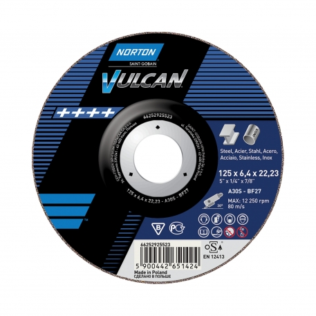 VULCAN for Right-Angle Grinder Grinding on METAL INOX Grinding
