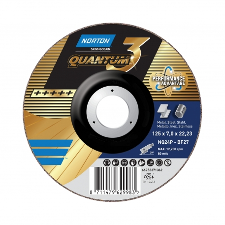 QUANTUM 3 for Right-Angle Grinder Grinding on METAL INOX Grinding