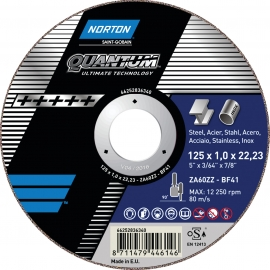 QUANTUM for Right-Angle Grinder Cut-Off on METAL INOX Cut-Off