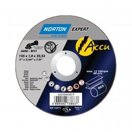 ACCU para amoladora recta en Ultra Thin Cut-Off enMETAL INOX Corte Ultrafino