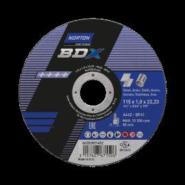 Mole da taglio ultra sottili BDX per smerigliatrice angolare su METAL INOX Taglio ultrasottile