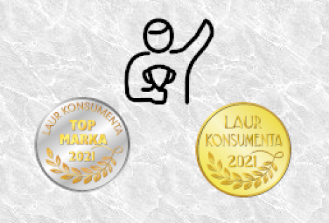 godło Laur Konsumenta 2021 oraz Top Marka 2021