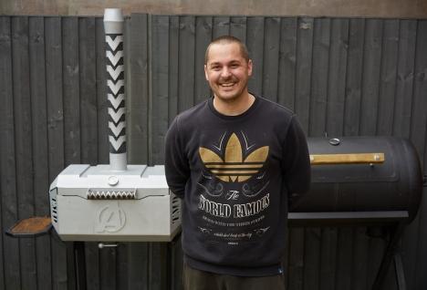 Zwycięzca barbecue build Dave Taylor