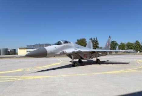 Odrestaurowany samolot MiG-29