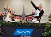 Paul i Martyn przygotowują świąteczny obiad za pomocą narzędzi ściernych Norton