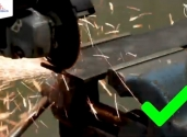 prawidłowe cięcie szlifierką kątową i tarczą tnącą