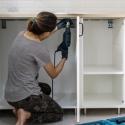 Mutfak dolaplarını boyama