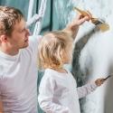 Baba kız duvar boyama