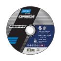 OMEGA para Corte y Eliminación de material Ultrafino con amoladora angular en INOX Corte Ultrafino