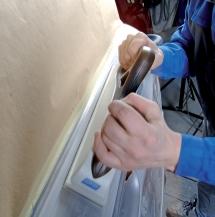 Manual sanding