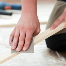 hand-sanding