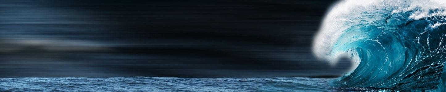 ocean waves representing marine market