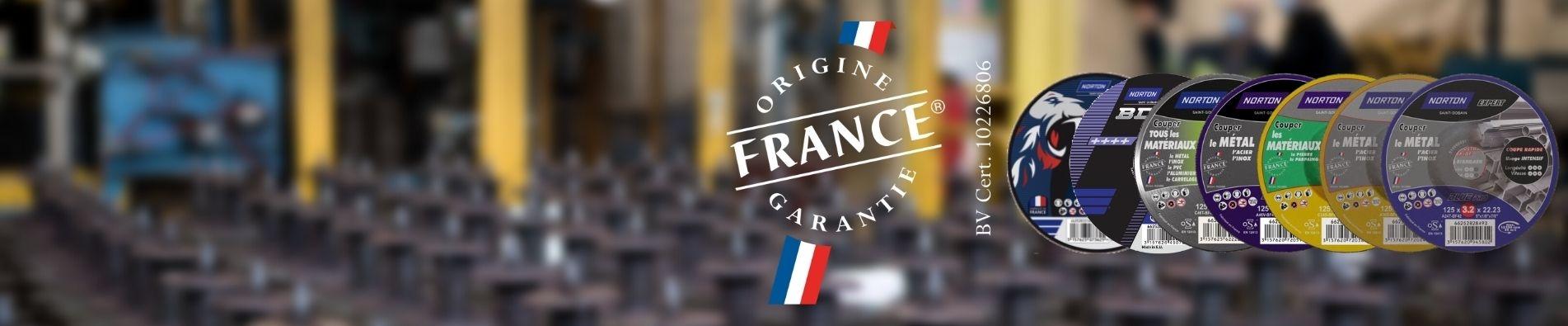 Nos gammes de disque de tronçonnage ayant obtenu le label Origine France Garantie
