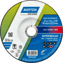 66252842857 - DD NORTON SUPER BDA 640 - 115 x 6,4 x 22,23 mm - RÓTULO 114 mm - 510157080 - 0320